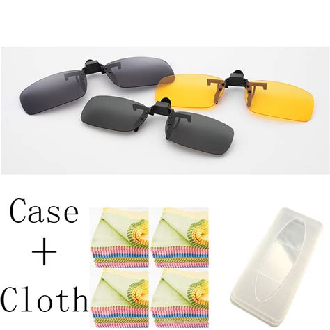 clip on daylight l מוצר 1pcs 3 colors lens day vision yellow sunglasses