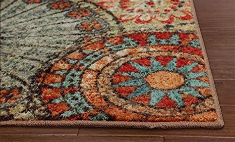 caravan medallion multi area rug mohawk home strata caravan medallion printed rug 2 x8 multi new ebay
