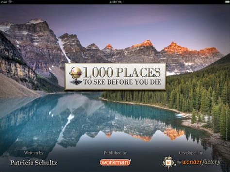1000 places to see 1000 places to see before you die for ipad download free 1000 places to see before you die app