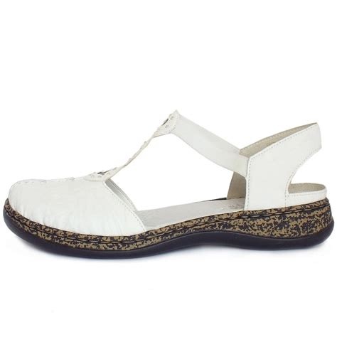 closed toes sandals rieker snowdrop c closed toe sandals in white