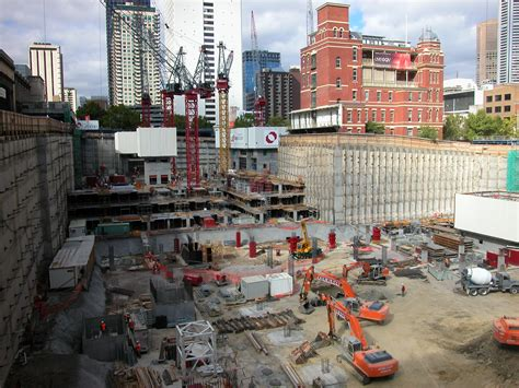 House Contractors file qv building construction site melbourne march 2002