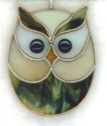 stained glass owl l stained glass owl suncatcher owl11 vitrail chouettes
