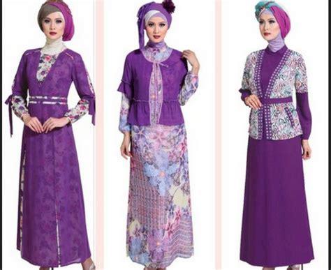 Baju Batik Pesta Modern Gamis Muslim Modern 2 15 model baju batik modern untuk pesta agar til menawan