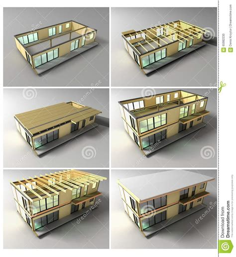 Stages Of Construction Stock Illustration   Image: 65982230