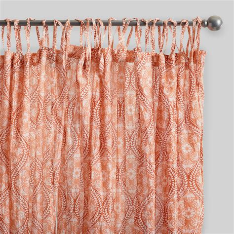 crinkle curtains coral ogee crinkle cotton voile curtains set of 2 world
