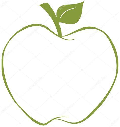 Green Apple Outline by Apple с зеленый контур стоковое фото 169 Hittoon 12492915