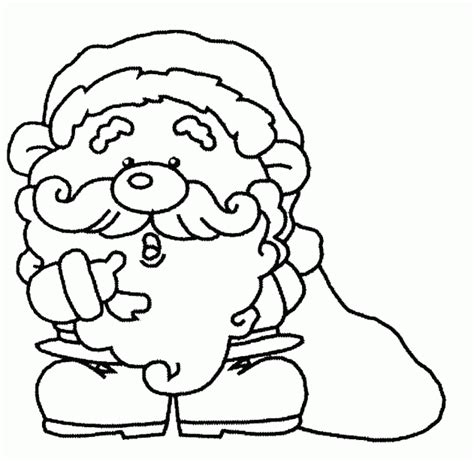 imagenes de navidad para colorear animadas papa noel y su saco de regalos