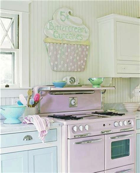 Pink And Blue Kitchen Decor by Kitchen Exciting Kitchen Design Idea With Pink Stove