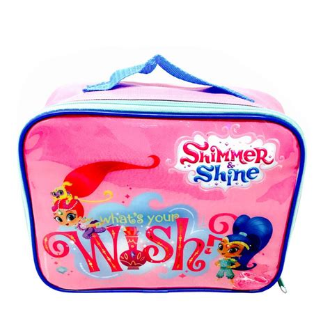 Lunch Bag Lb shimmer shine insulated lunch bag cat lb 1010 character brands