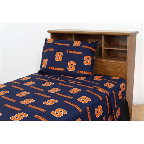 twin xl bed sheets ncaa syracuse orangemen collegiate orange twin xl bed sheets