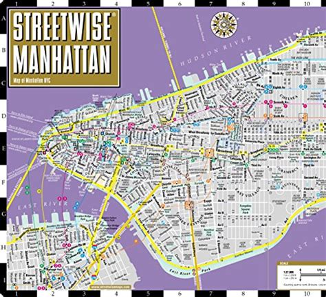 streetwise manhattan map laminated city center map of manhattan new york michelin streetwise maps books streetwise manhattan map laminated city map of