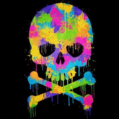 abstract trendy graffiti watercolor skull  shirt