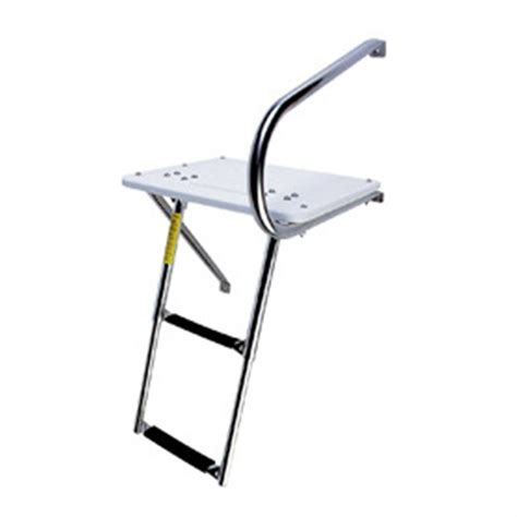 ladder for swim platform on boat garelick outboard swim platform and telescopic ladder