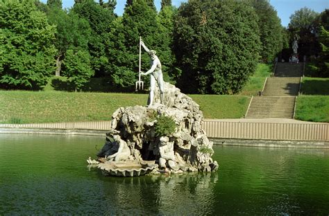 Boboli Gardens Florence by Statue Of Neptune Travel Wallpaper And Stock Photo