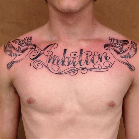 cute tattoos for guys chest for