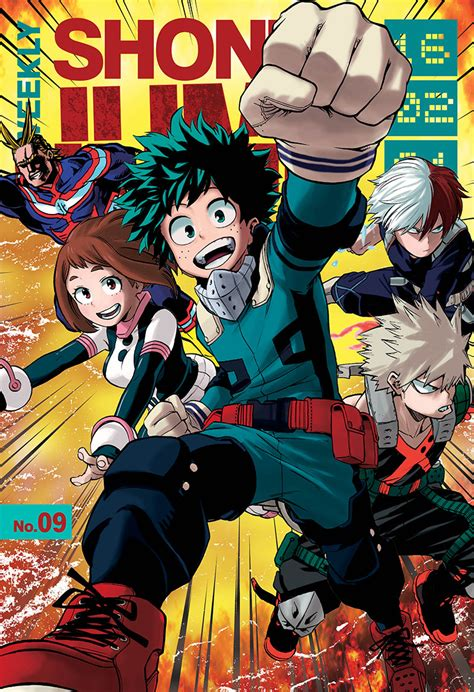 my hero academia manga volume 4 image weekly shonen jump volume 209 cover png boku no hero academia wiki fandom