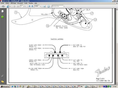 fender strat humbucker wiring diagram factory hss