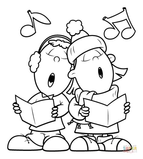 coloring song singing a song together coloring page free