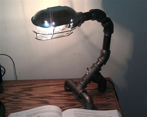 Unusual Lamps by Industrial Black Metal Pipe Desk Lamp Pdl 03