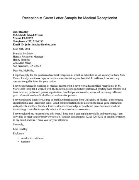 cover letter for accountant receptionist receptionist cover letter http jobresumesle