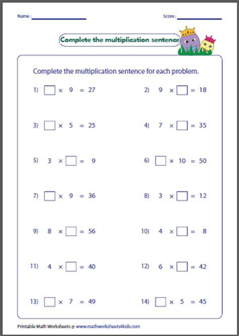 Basic Multiplication Worksheets by Multiplication Factors Worksheet Ommunist