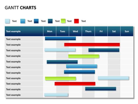 Powerpoint Slide Gantt Chart 7 Days 11 Rows P31 3 Crystalgraphics Com Powerpoint Gant Chart