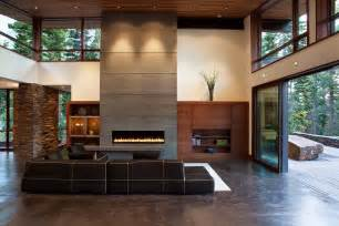 Precast board formed concrete panels on face of fireplace