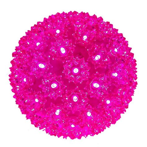 100 led pink starlight sphere novelty lights inc
