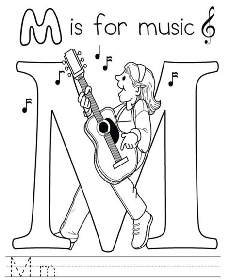 coloring page for music music free alphabet coloring pages alphabet coloring