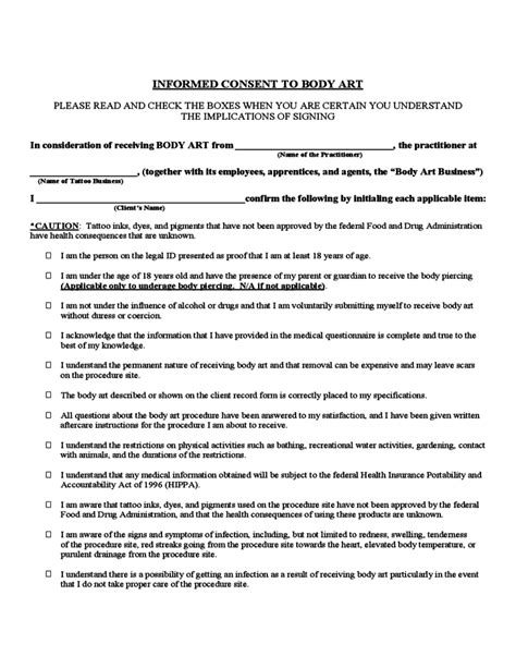 client consent form template client questionnare and consent form for free
