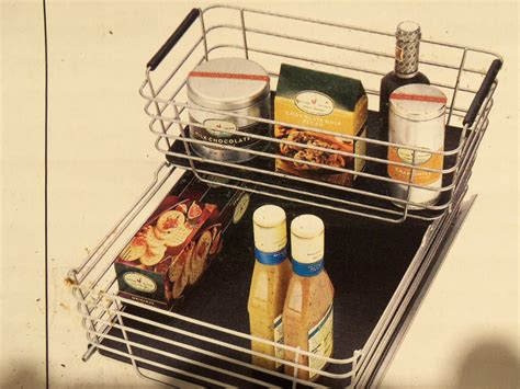 Pull Out Basket Drawers by Shelf Cabinet Sliding Drawer Metal Organizer Pull Out