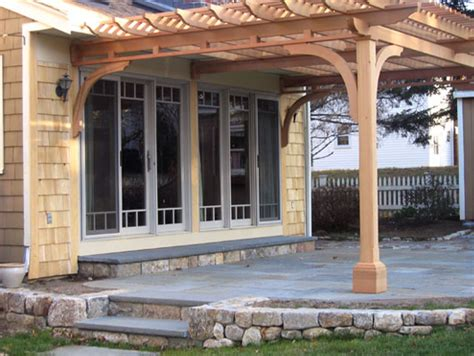 Attached Pergola No Extra Inside Beams Main Beams Are Pergola Attached To House
