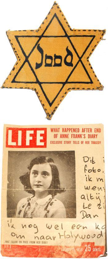 anne frank mini biography video top 1942 yellow star labeled jood jew bottom life