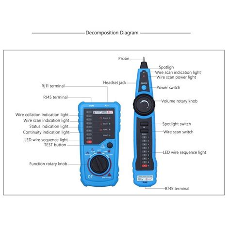 Power Cube Vivan With 70cm Cable Adaptor Vivan Powercube elegiant rj11 rj45 cable tester multifunction wire tracker check wire measuring instrument