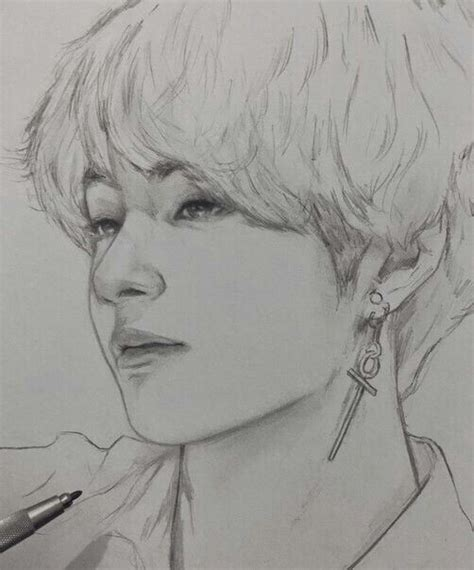 V Sketch Bts by Taehyung V Bts Fanart Cr To The Artist Bts In