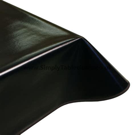 Plain Black Vinyl Tablecloth