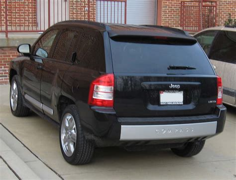 Jeep Compass Back File 2007 Jeep Compass Limited Rear Jpg Wikimedia Commons