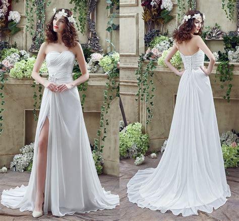Wedding Dress With Slit by Affordable Slit Bridal Wedding Dress Weddceremony