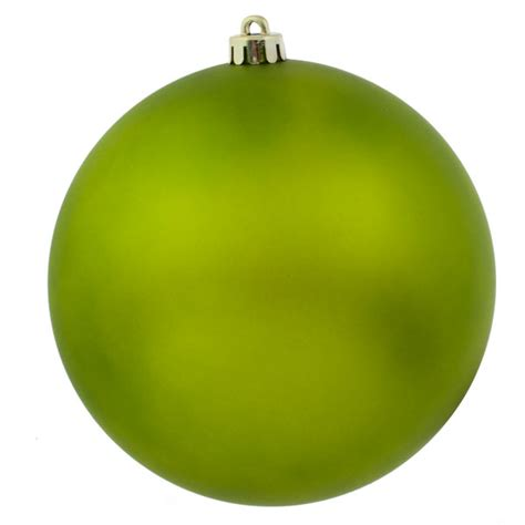 lime green shatterproof baubles single 200mm matt