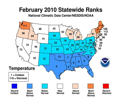 us temperature map february national climate report february 2010 state of the