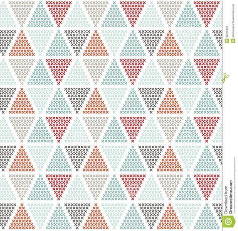 Striped Navy Rug Geometric Seamless Pattern Stock Vector Illustration Of