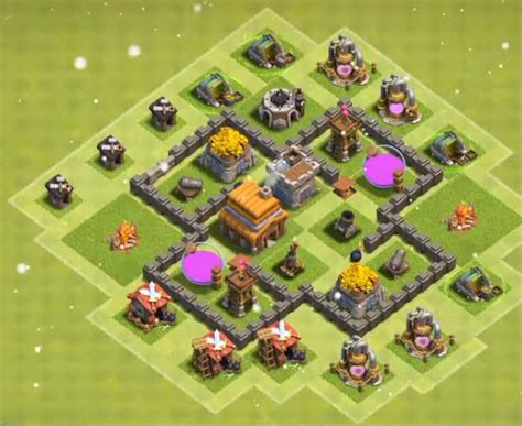 village layout for town hall 4 top 15 best town hall 4 war base farming trophy layouts