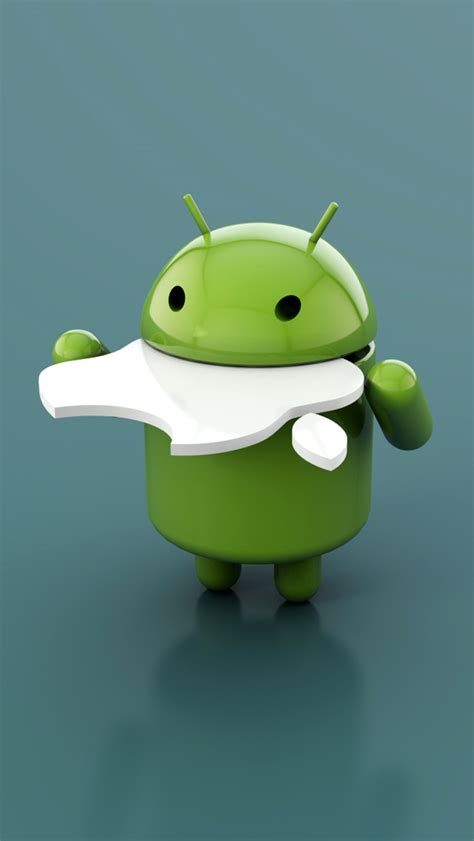 wallpaper apple eating android android eating apple logo iphone 5 wallpaper hd free