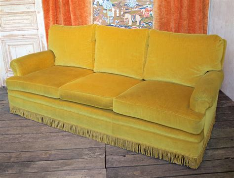 gold sofas for sale gold velvet sofa with fringe at 1stdibs
