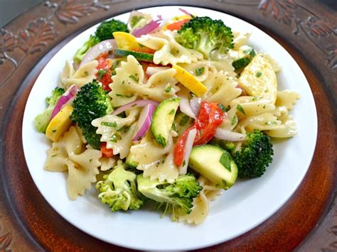 vegetables pasta summer vegetable pasta salad budget bytes