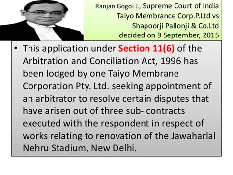 Section 11 Appointment Of Arbitrators Deep Trading Company