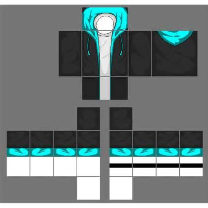 roblox shirt template maker black jacket with cyan blue hoodie a image by 2otaku4lyfe