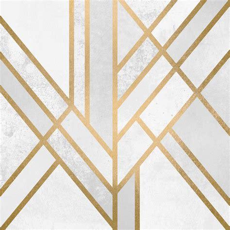 Art Deco Furniture Designers Art Deco Geometry Ii Canvas Print By Elisabeth Fredriksson