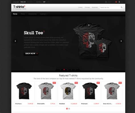 Top 20 Fashion Clothing Ecommerce Website Templates Themes Ecommerce T Shirt Website Templates