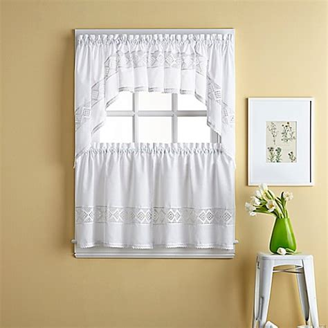 tier curtains bathroom kendra window curtain tier pair bed bath beyond